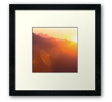 mountain love 2 Framed Print