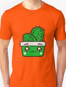 face baby comic cartoon cactus cactus flower pot cup small cute sweet green balcony Unisex T-Shirt