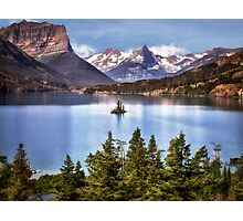 St Mary Lake Photographic Print