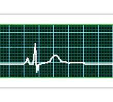 Reversed EKG Sticker