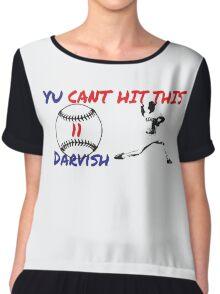 Yu Darvish Yu Cant Hit This Women's Chiffon Top