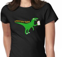 A Velociraptor Holding Womens Fitted T-Shirt