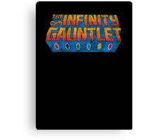 Infinity Gauntlet - Classic Title - Dirty Canvas Print