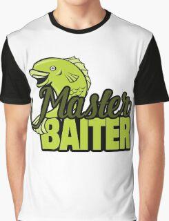 Funny Fishing Master Baiter Word Play Pun Graphic T-Shirt