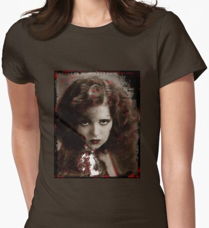 Flapper with a Smoldering Look Womens Fitted T-Shirt