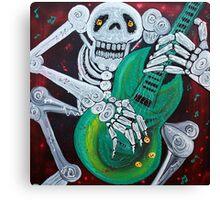Skeleton Guitarist Canvas Print