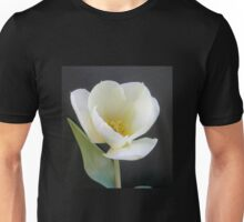 Single White Tulip Unisex T-Shirt
