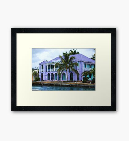 Colorful Shopping Experience on Tortola, British Virgin Islands, BVI  Framed Print
