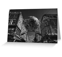 London 090 BW Greeting Card