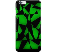 Triangular Fragments (Green) iPhone Case/Skin