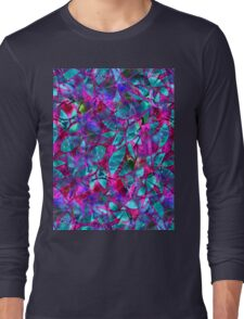 Floral Abstract Stained Glass Long Sleeve T-Shirt