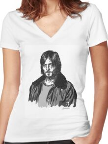 Grayscale Reedus Women's Fitted V-Neck T-Shirt