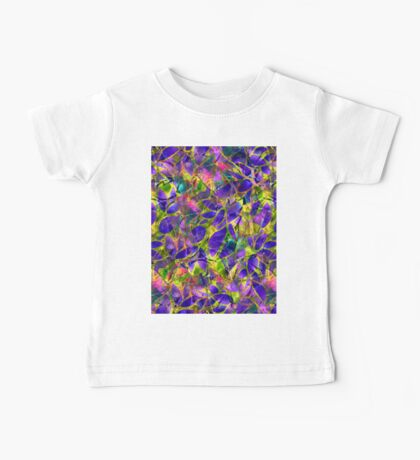Floral Abstract Stained Glass Baby Tee
