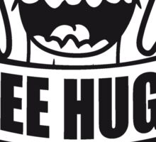 free hugs hugs hugz goad free comic cartoon face small green sweet cute cactus desert embrace balcony Sticker
