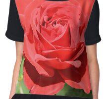 Red Rose Women's Chiffon Top
