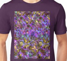 Floral Abstract Stained Glass Unisex T-Shirt