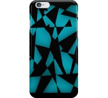 Triangular Fragments (Cyan) iPhone Case/Skin