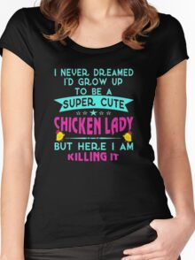 Chicken lady Women's Fitted Scoop T-Shirt