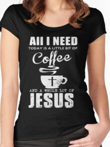 COFFEE JESUS Women's Fitted Scoop T-Shirt