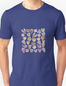 funny animal on blue background T-Shirt