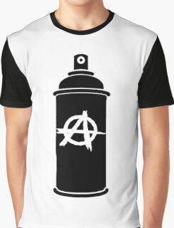 Anarchy symbol spray paint can Graphic T-Shirt
