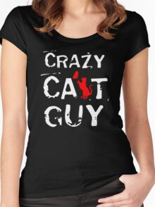 CRAZY CAT GUY Women's Fitted Scoop T-Shirt