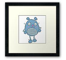 Pinkie Blue Framed Print