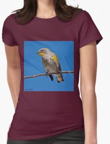 Yellow-Rumped Warbler Womens Fitted T-Shirt