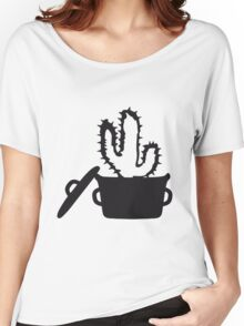 Eat Well saucepan cook restaurant desert cactus survive survival hungry Women's Relaxed Fit T-Shirt