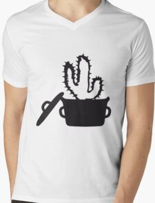 Eat Well saucepan cook restaurant desert cactus survive survival hungry Mens V-Neck T-Shirt