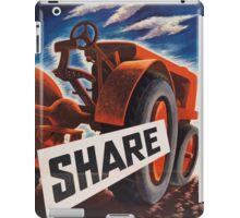 Share - Vintage WW2 Propaganda Poster  iPad Case/Skin