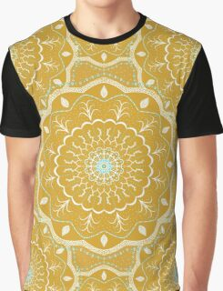Yellow Mandala Design Graphic T-Shirt