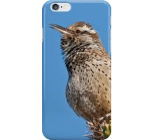 Cactus Wren Singing iPhone Case/Skin