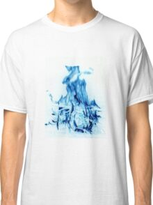 Abstract Blue Fire  Classic T-Shirt