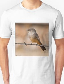Say's Phoebe on a Barbed Wire T-Shirt