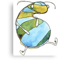 Stripey Grub Canvas Print
