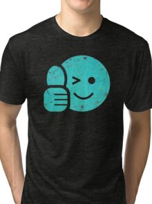 Thumbs Up - Smiley Face Tri-blend T-Shirt