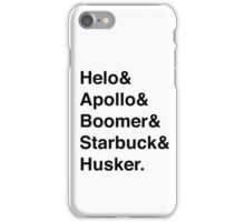 Battlestar Galactica BSG Helvetica Ampersand List iPhone Case/Skin