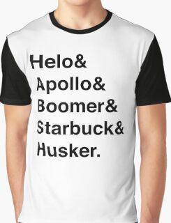 Battlestar Galactica BSG Helvetica Ampersand List Graphic T-Shirt