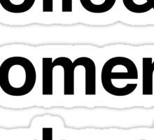 Battlestar Galactica BSG Helvetica Ampersand List Sticker