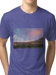 Dusky Wild Rose Sky Tri-blend T-Shirt