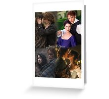 OutlanderJamie & Claire collage Greeting Card