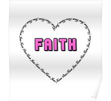 Faith (pink)  Poster