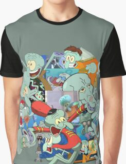 A Jumble of Squidwards Graphic T-Shirt
