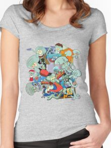 A Jumble of Squidwards Women's Fitted Scoop T-Shirt