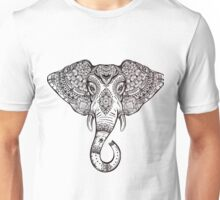 Vintage ornate ethnic elephant with tribal ornaments. Unisex T-Shirt