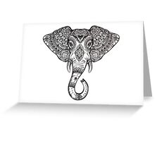 Vintage ornate ethnic elephant with tribal ornaments. Greeting Card