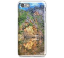 Wallaby Rocks ( Painted)- Sofala/Hill End NSW - The HDR Experience iPhone Case/Skin