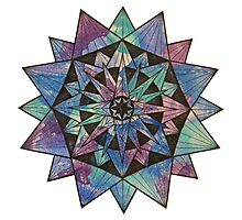 Watercolor Starburst Photographic Print