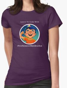 Learn To Code With Professor Beekums Womens Fitted T-Shirt